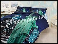 Комплект постельного белья 3D сатин Free life Турция (kod 3123)