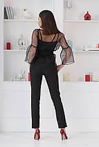 """Брючный женский костюм-тройка """"DOLLA"""" с блузой в горошек (4 цвета), фото 3"""
