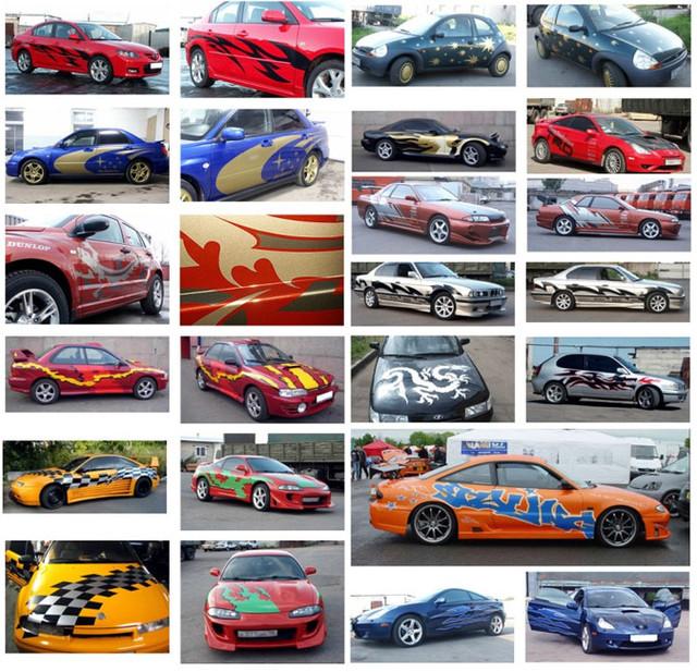 Наклейки 3D для автомобиля