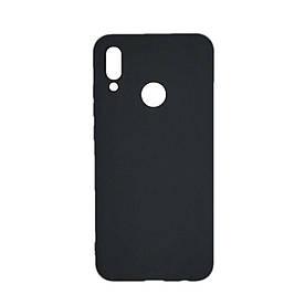 Чехол накладка для Huawei Honor 10 Lite силиконовый матовый Черный