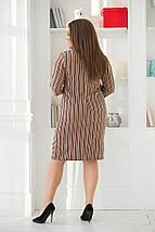 """Стильное платье-футляр в полоску """"STILL"""" с четвертным рукавом (большие размеры), фото 3"""
