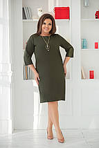 """Стильное платье прямого кроя """"ADEN"""" с карманами (большие размеры), фото 2"""