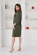 """Стильное платье-рубашка прямого кроя """"АРМАНА"""" с карманами (3 цвета), фото 3"""