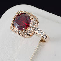 Прекрасное кольцо с кристаллами Swarovski, покрытие золото 0556