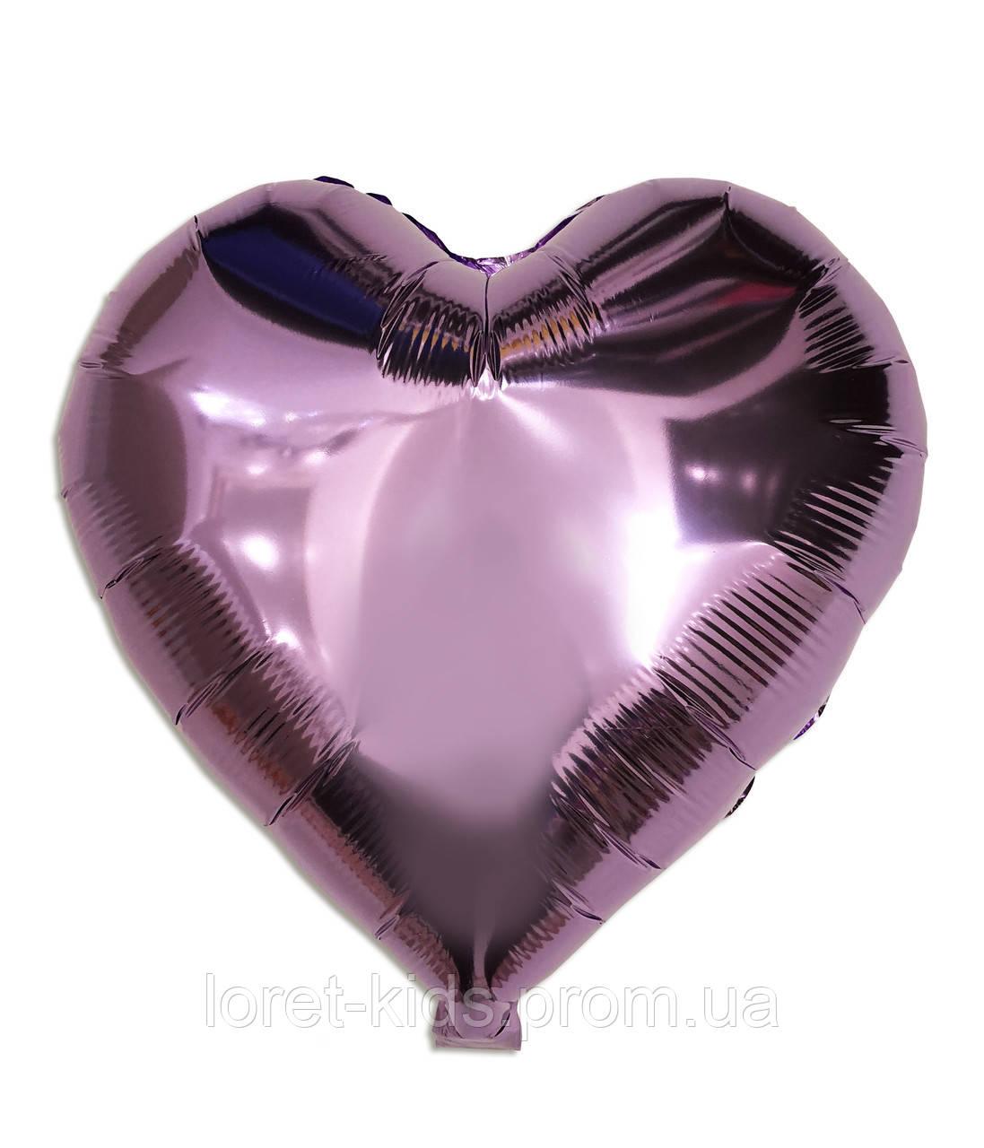 """Шар фольгированный """"Сердце лиловое"""", 43 х 48 см"""