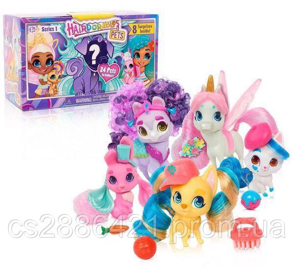 Hairdorables Pets Хэрдораблс питомец Collectible Surprise Dolls