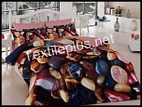 Комплект постельного белья 3D сатин Esmeralda Турция (kod 3131)