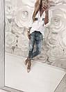 Рубашка свободного кроя декорированная пайетками, фото 4