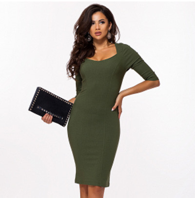 91416094ce3 Купить Офисное платье футляр рукав три четверти 823664 недорого в ...