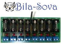 Кросс колодка на 8 клемм под винт для ИБП PSU (3.0A, 6.0A, 10.0A)