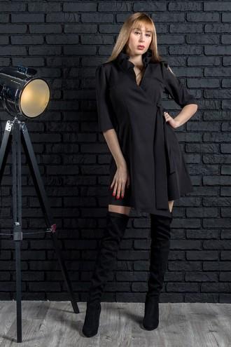 Демисезонное платье QUEEN черный (M-XXL)