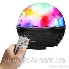 Диско-шар на аккумуляторе Charging crystal magic ball stage light + ПОДАРОК