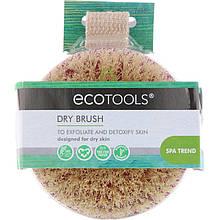 """Щетка для сухого массажа EcoTools """"Dry Brush"""" ручная, средней жесткости"""