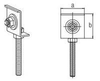 Елемент кріпильний для сифону або отвода НТ (шпилька М8)