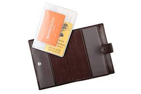 Бумажник мужской кожаны LAS FERO 100х140х20 застёжка кнопка м Л42-190Акор, фото 2