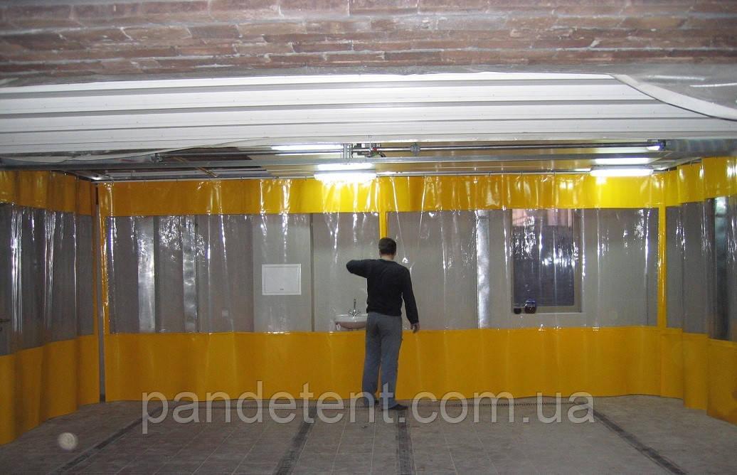 Водо-мороустойчивая штора для автомойки из ПВХ ткани (Испания)