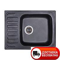 Гранитная мойка Fosto 64x49 SGA-420 (черный)