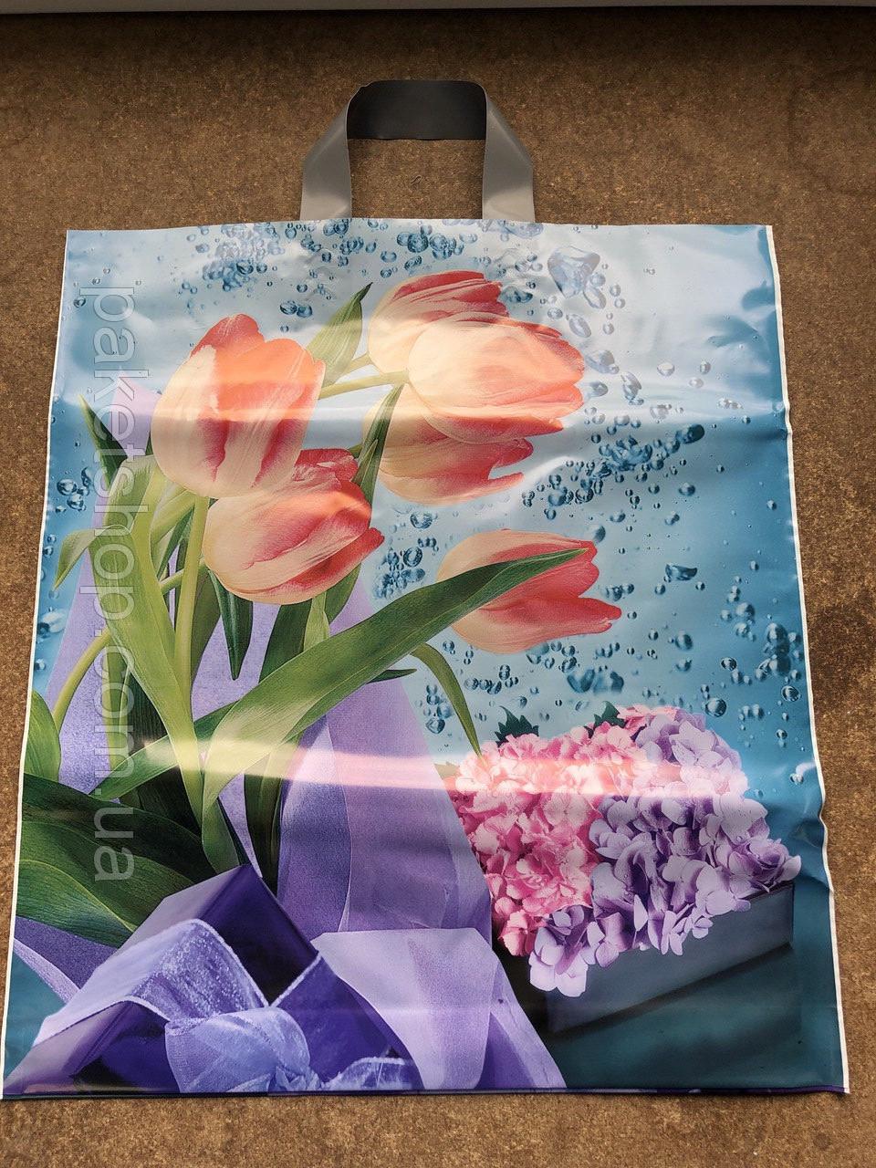 Полиэтиленовый пакет с петлевой ручкой ''Весна'', 400*420, 10 шт