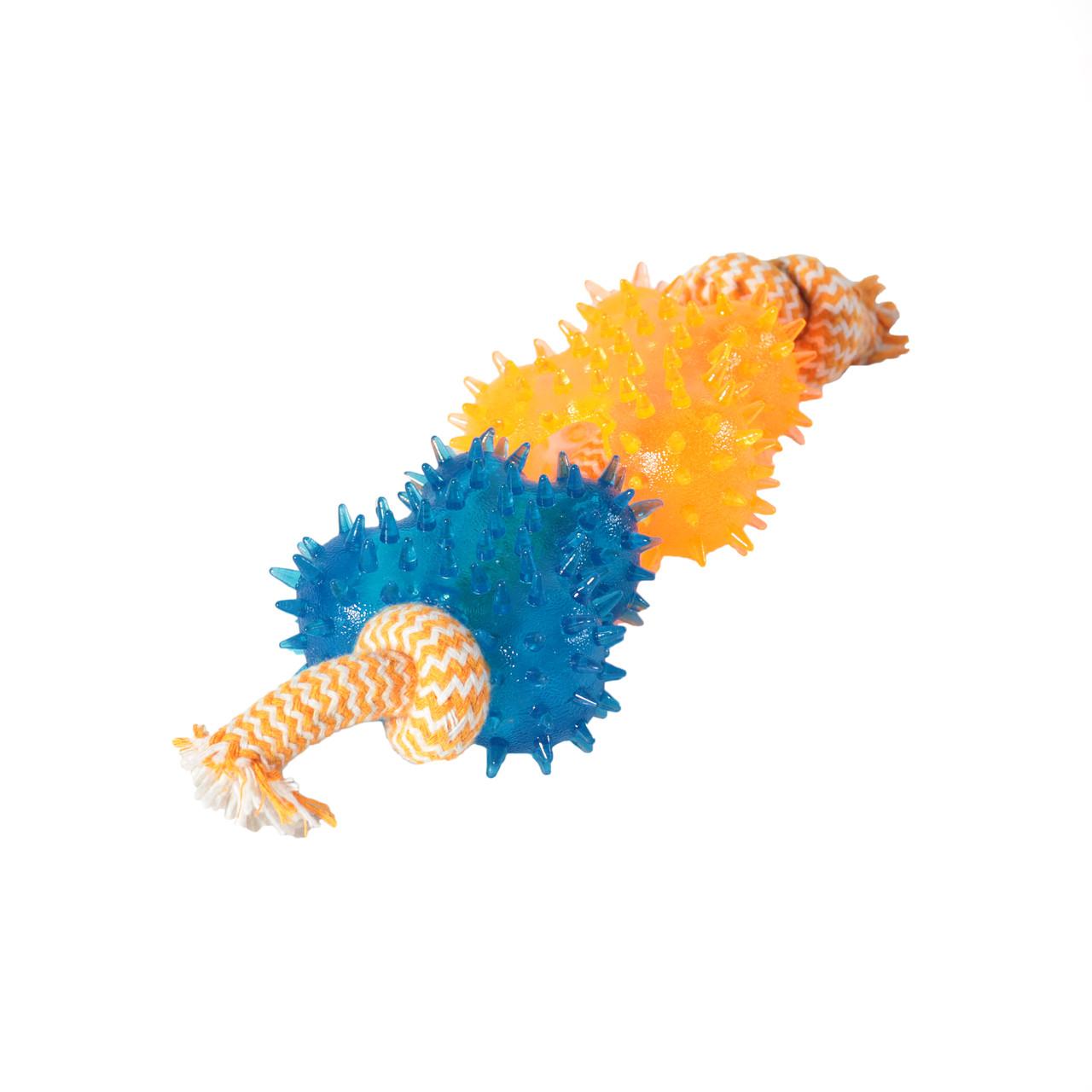 Игрушка TPR для собак FOX  бабочки шипированные с грейферами, 9х26 см