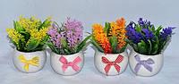 Красивые искусственные цветы в горшках доставка по Украине