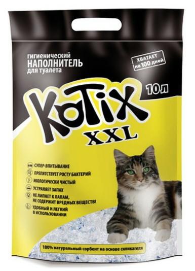 Котикс(Kotix) наполнитель силикагелевый для кошачьего туалета с ароматом яблока,10 л
