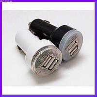Авто USB зарядка от прикуривателя 12v на 2 юсб, фото 1