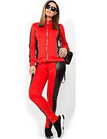 Стильный спортивный костюм со вставками из эко кожи размеры от XL 2241