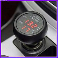 Автомобильный термометр вольтметр - USB VST 706-1, фото 1