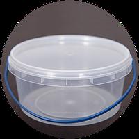 Ведро пластиковое пищевое с крышкой 0,5 литра