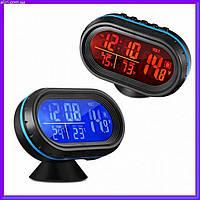 Автомобильные часы с термометром и вольтметром VST 7009 V, фото 1