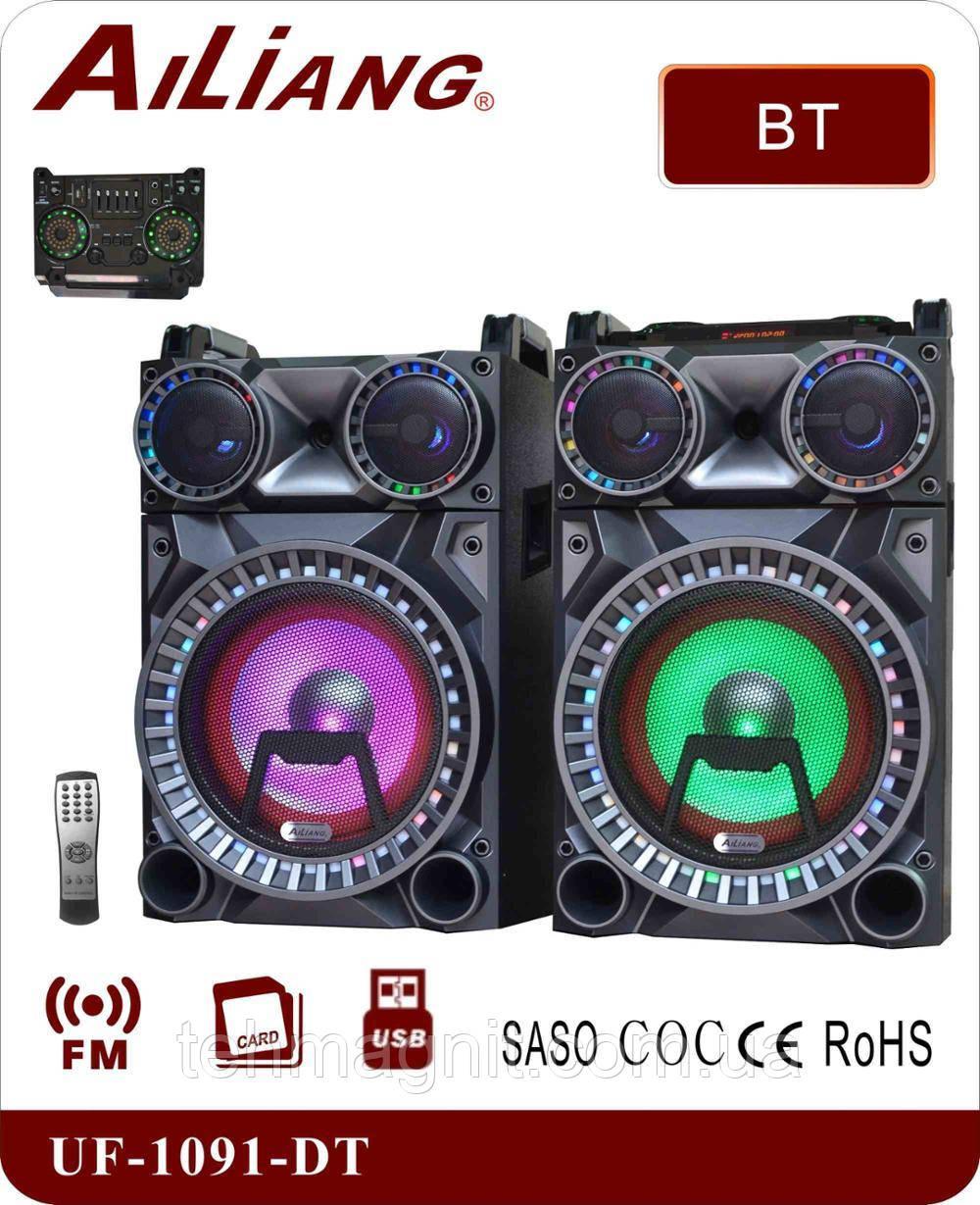 Активная акустическая система AILIANG UF-1091-DT, Bluetooth, Пульт ДУ ( Реплика )