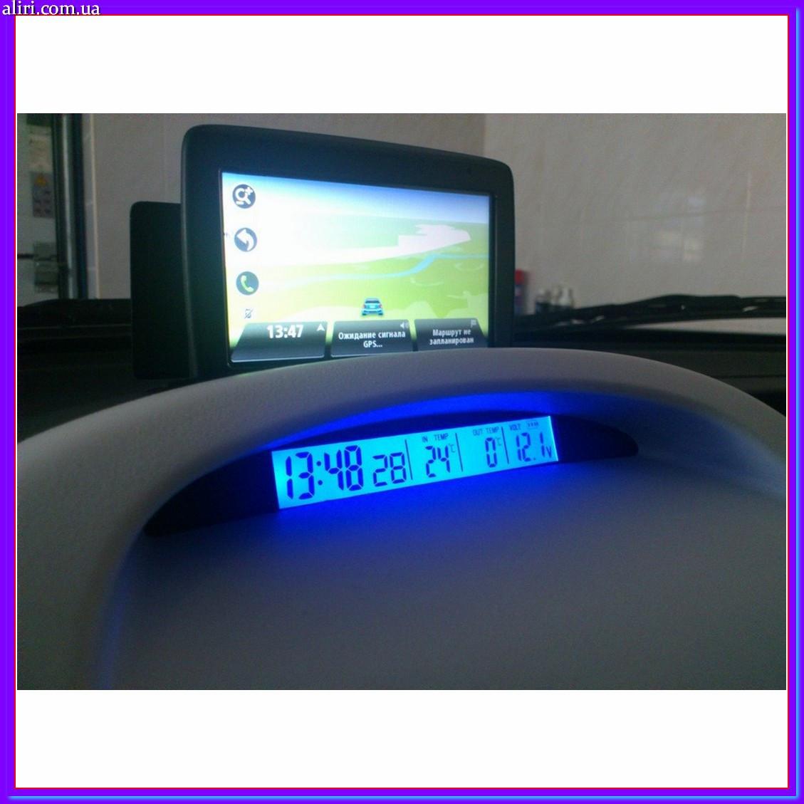 Автомобильные часы с термометром vst 7013 V