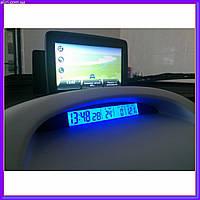 Автомобильные часы с термометром vst 7013 V, фото 1