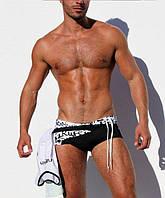 Модные плавки для мужчин AQUX, 102-MB-Black/White