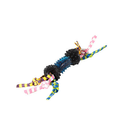 Игрушка для собак Гантель выпуклая шипованная с грейферами TPR 14*28см, фото 2