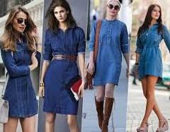 Джинсові плаття, туніки, сорочки