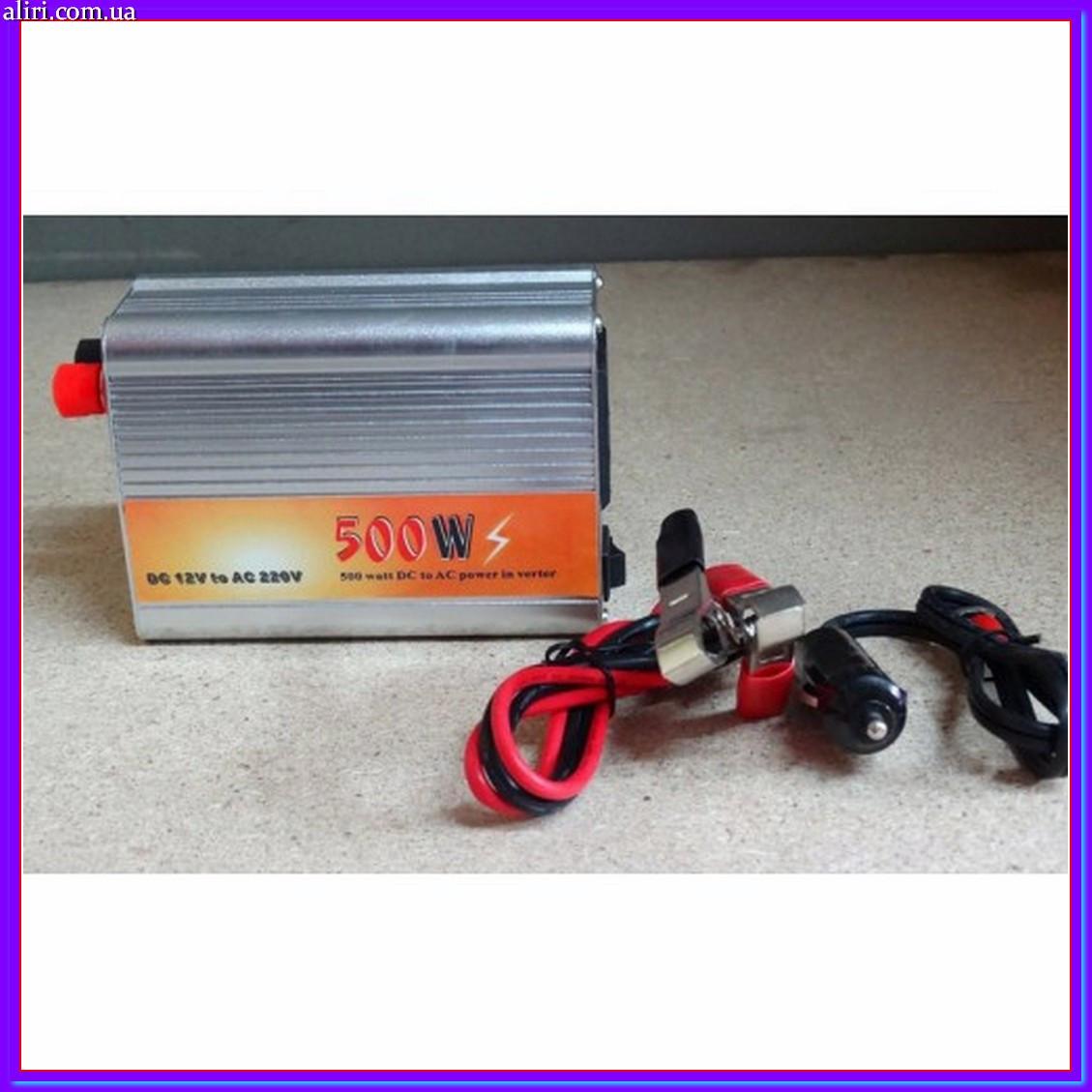 Инвертор преобразователь напряжения с 12 на 220V - 500W