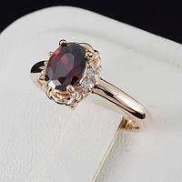 Феерическое кольцо с кристаллами Swarovski, покрытие золото 0560