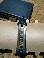 Кожаный браслет best friend, фото 1