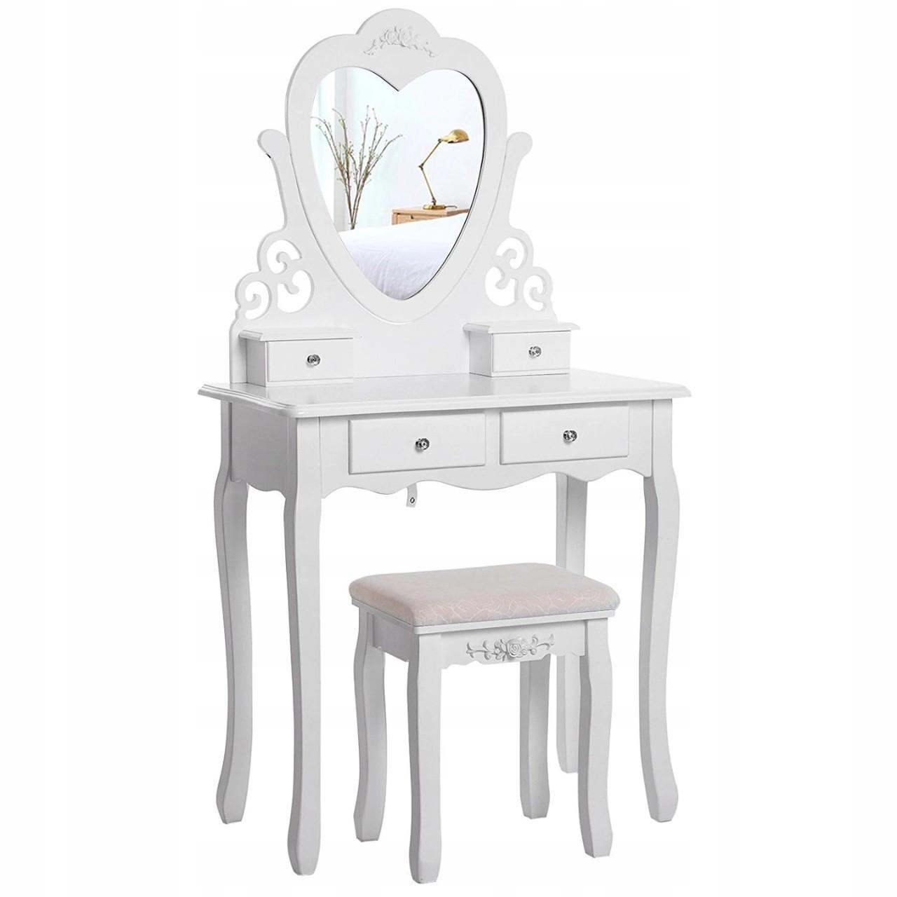 Туалетний столик Космо белый с зеркалом Трюмо в спальню
