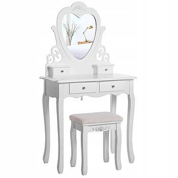 Туалетний столик Космо білий Трюмо з дзеркалом в спальню