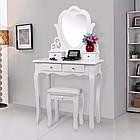 Туалетний столик Космо белый с зеркалом Трюмо в спальню, фото 3
