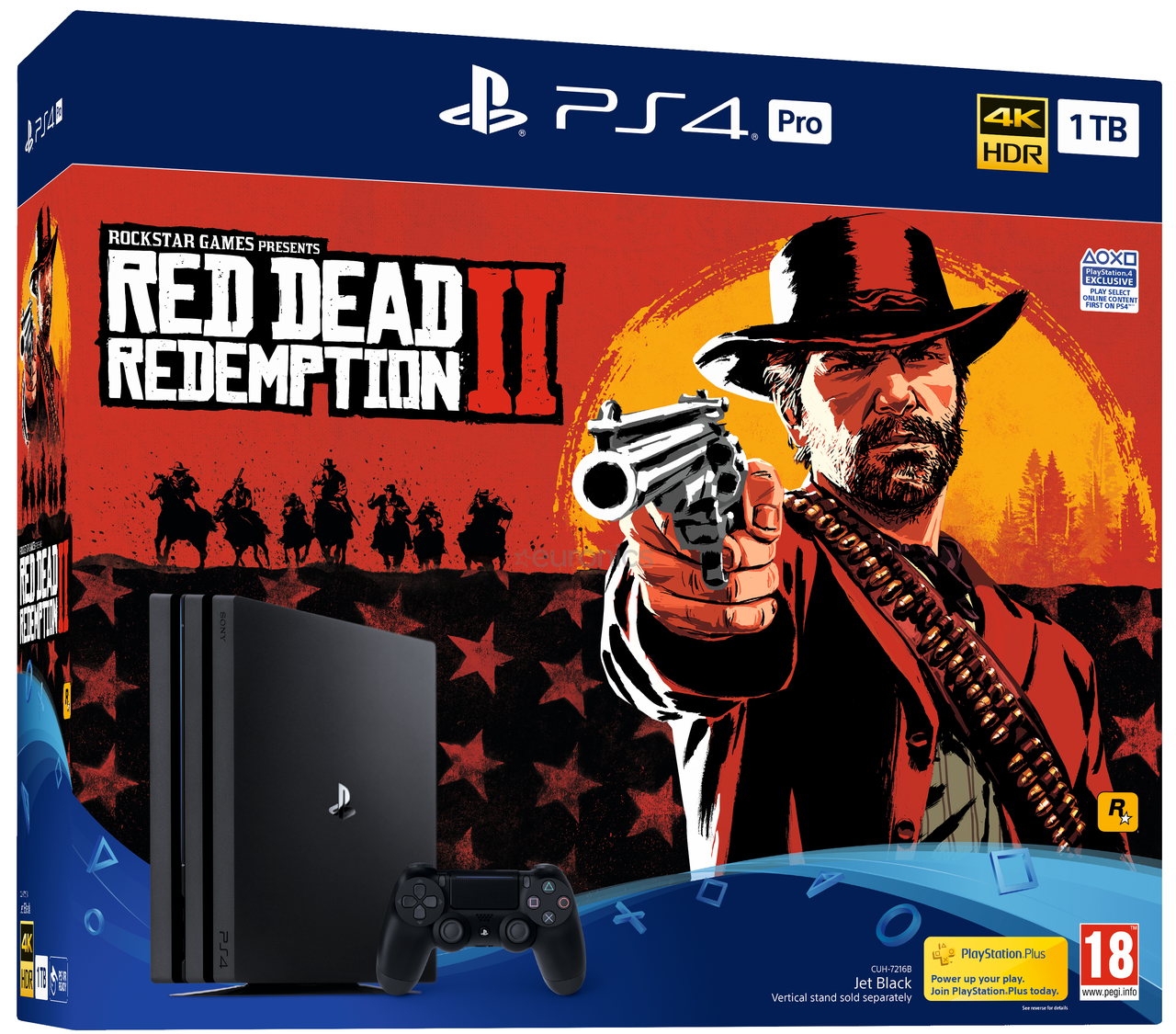 Sony PlayStation 4 PS4 Pro 1Tb Red Dead Redemption 2