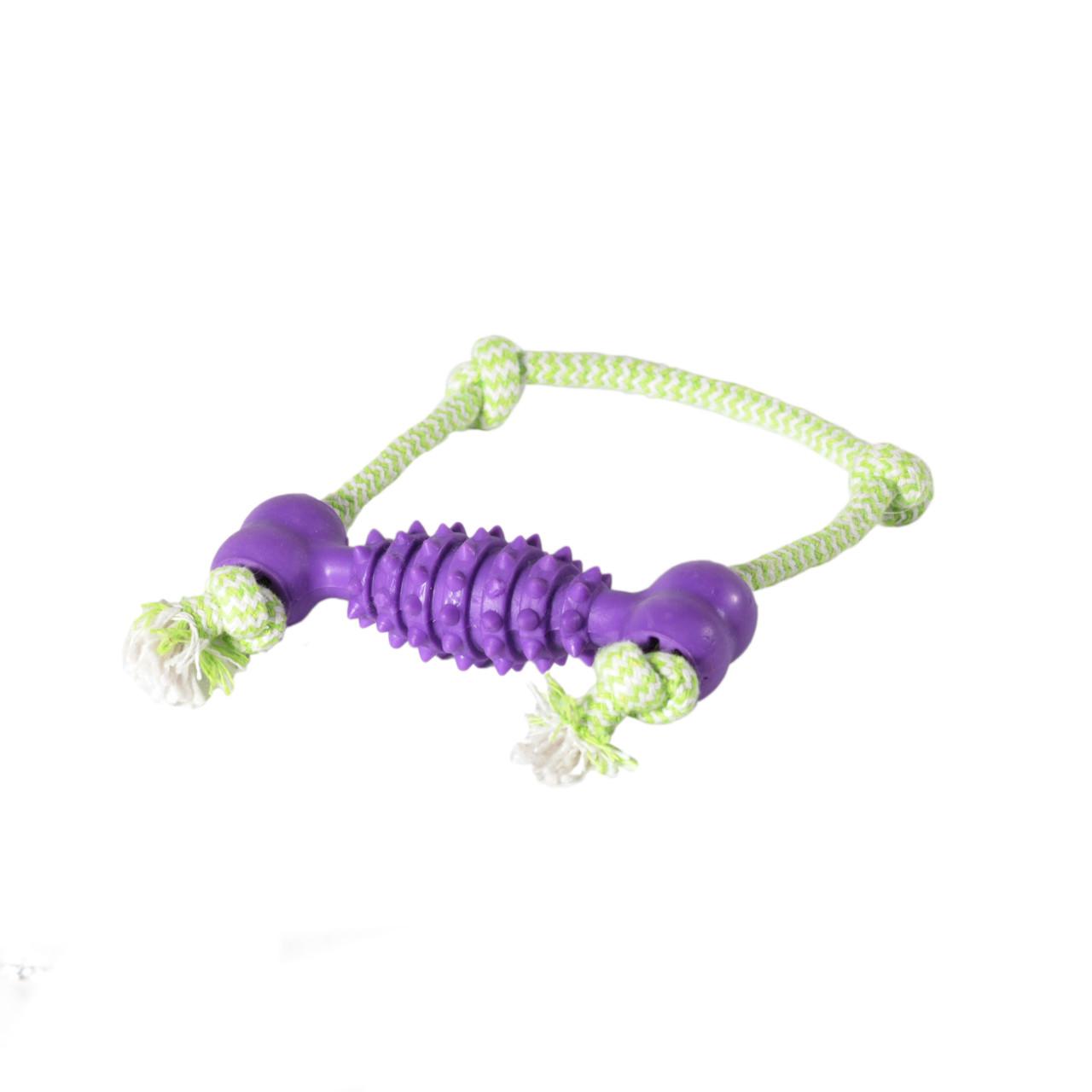 Игрушка для собак Кость с ручкой грейфером TPR 13*17см