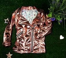 Демисезонная курточка косуха детская для девочки