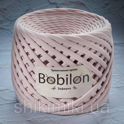 Трикотажная пряжа Bobilon (7-9 mm), цвет Зефирка