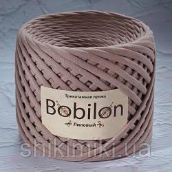 Пряжа трикотажна Bobilon (7-9 мм), колір Ліловий
