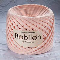 Трикотажная пряжа Bobilon (7-9 мм), цвет Персик