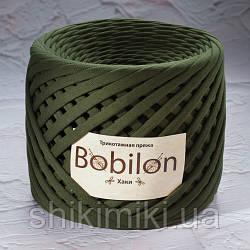 Трикотажная пряжа Bobilon (7-9 мм), цвет Хаки
