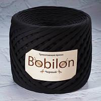 Трикотажная пряжа Bobilon (7-9 мм), цвет Черный